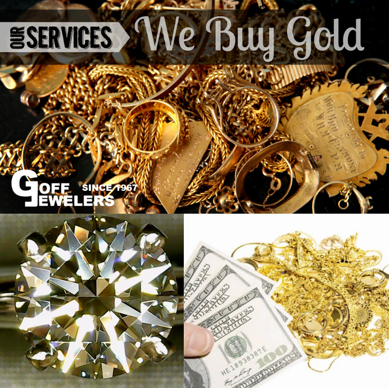 We buy Gold, Silver, Platinum, Diamonds, Gemstones, Watches and more!  Stop in today for a no obligation quote.  You won't be disappointed you did!